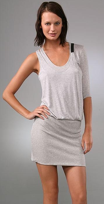 Michelle Mason Asymmetrical Mini Dress