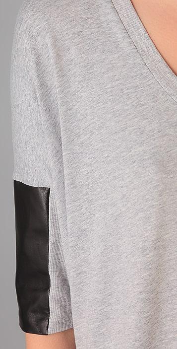 Michelle Mason Leather Detail Top