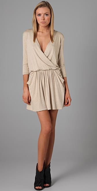Michelle Mason 3/4 Sleeve Mini Dress