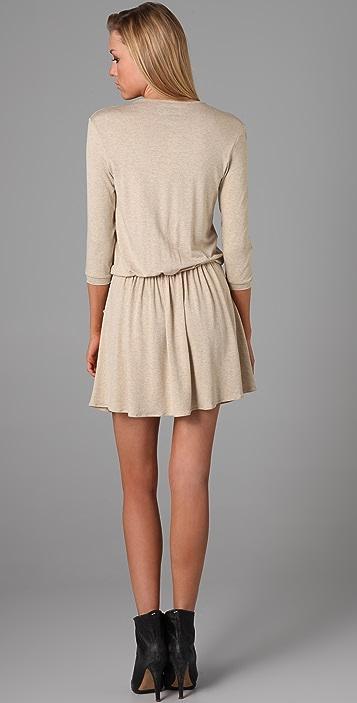 Michelle Mason 3/4 Sleeve Mini Dress