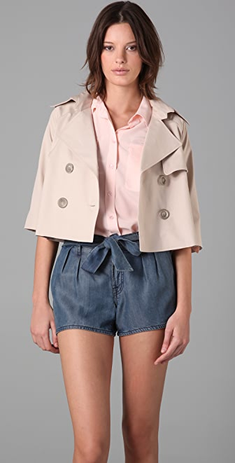 Michelle Mason Crop Trench Coat