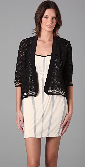 Michelle Mason Lace Shawl Cardigan
