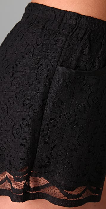 Michelle Mason Lace Shorts