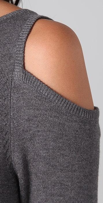 Michelle Mason Open Shoulder Knit Dress