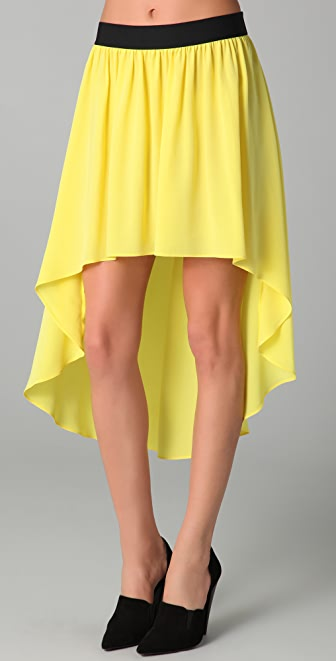 Michelle Mason Uneven Hem Skirt