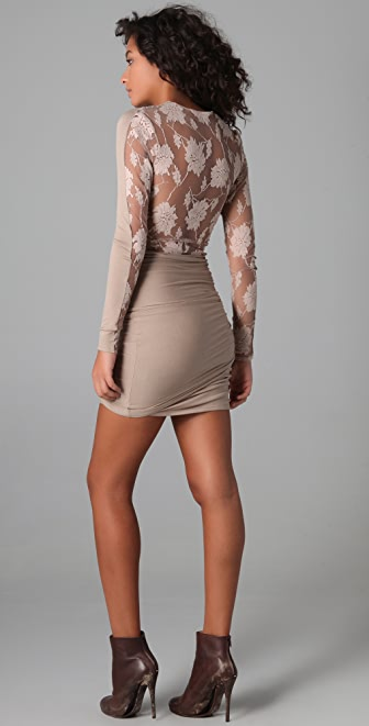 Michelle Mason Lace Back Dress