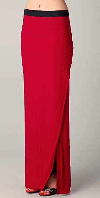 Michelle Mason Maxi Skirt with Slit