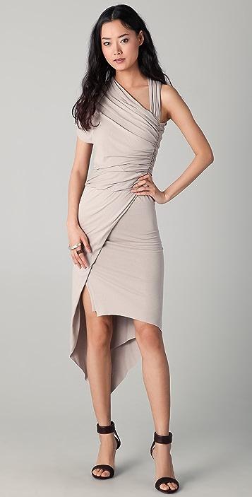 Michelle Mason Draped Asymmetrical Dress