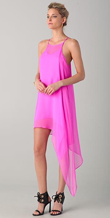 Michelle Mason Asymmetrical Shift Dress