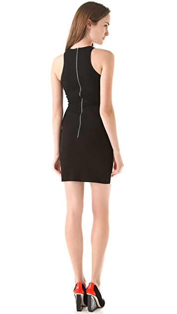 Michelle Mason Leather Front Tank Dress