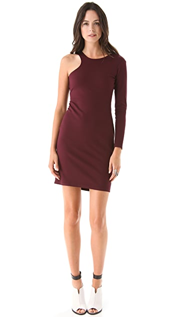 Michelle Mason One Sleeve Dress