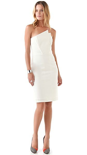 Michelle Mason Crane Strapless Dress