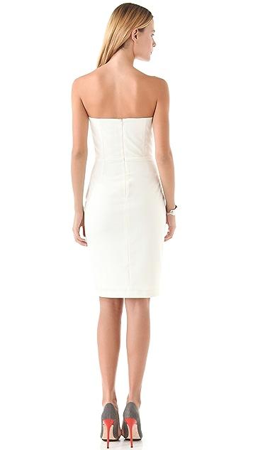 Michelle Mason Crane Strapless Dress