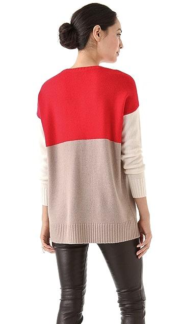 Michelle Mason Tri-Color Sweater