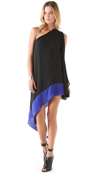 Mason by Michelle Mason One Shoulder Dress