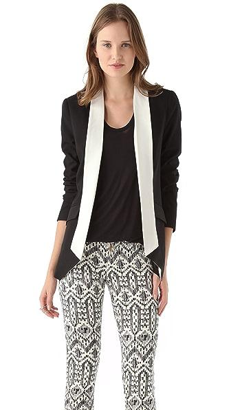 Michelle Mason Contrast Collar Jacket
