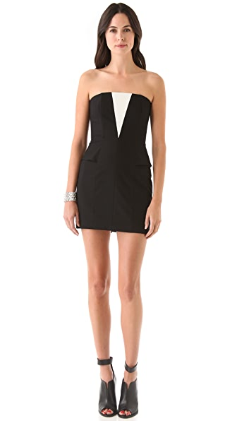 Mason by Michelle Mason Cascade Strapless Dress