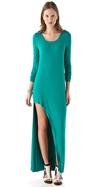 Michelle Mason Long Sleeve Cutout Maxi