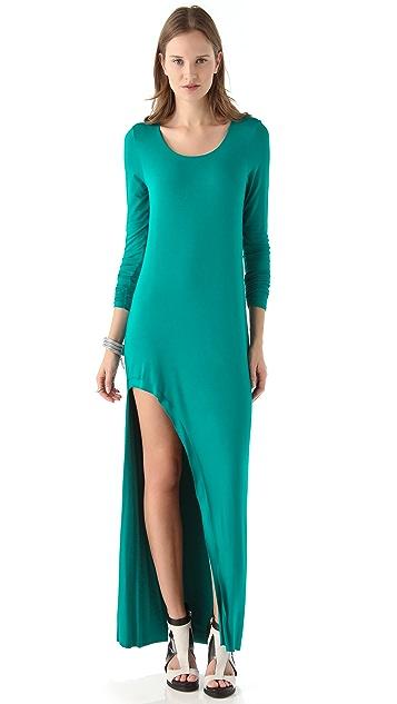 Michelle Mason Long Sleeve Cutout Maxi