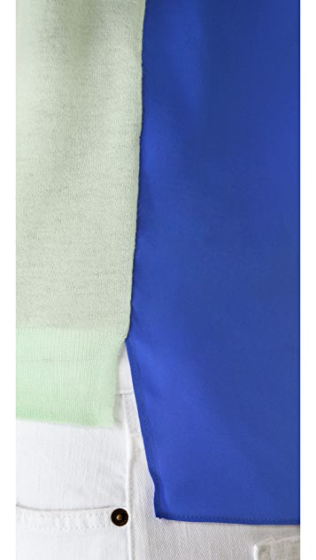 Michelle Mason Two Tone Cashmere Silk Sweater