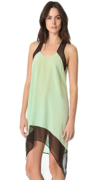Michelle Mason Colorblock Trapeze Dress