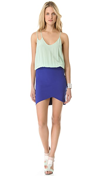 Michelle Mason Colorblock Strap Dress