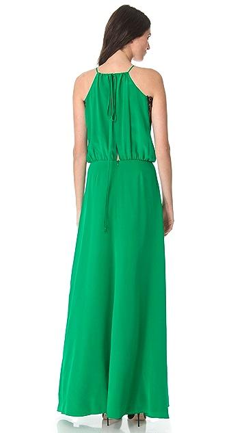Michelle Mason Lace Inset Gown