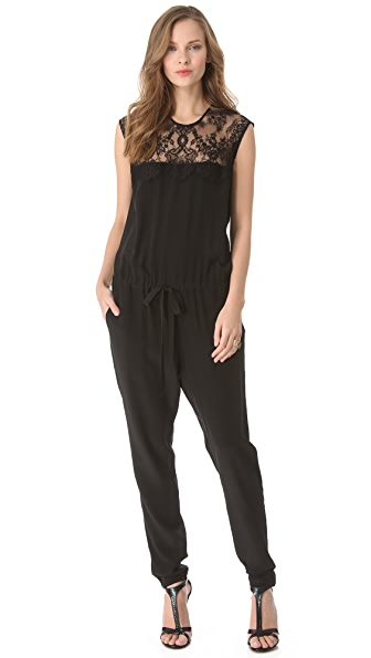 Mason by Michelle Mason Lace Inset Jumpsuit