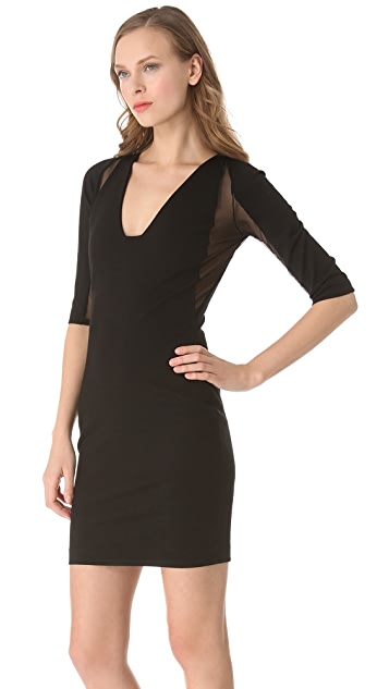 Michelle Mason Plunge Neck Dress