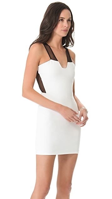 Michelle Mason Plunge Neck Dress with Insets