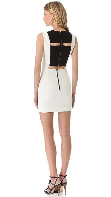 Michelle Mason Leather Inset Tank Dress