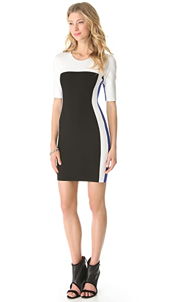 Mason by Michelle Mason Tricolor Dress