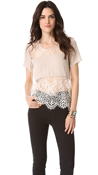 Mason by Michelle Mason Lace Tee