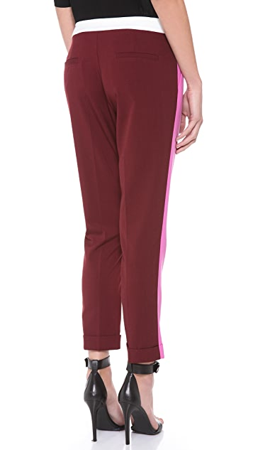 Michelle Mason Contrast Slim Trousers