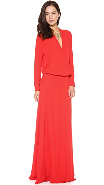 Mason by Michelle Mason Wrap Gown