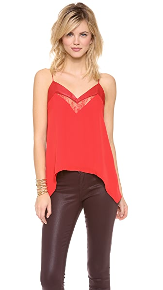 Michelle Mason Leather & Lace Cami