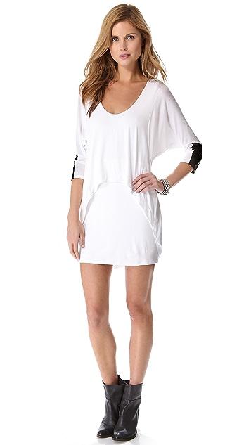 Michelle Mason Leather Cuff Dolman Dress