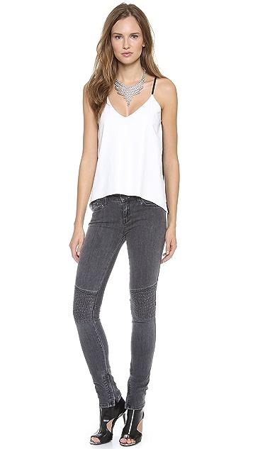 Michelle Mason Leather Camisole