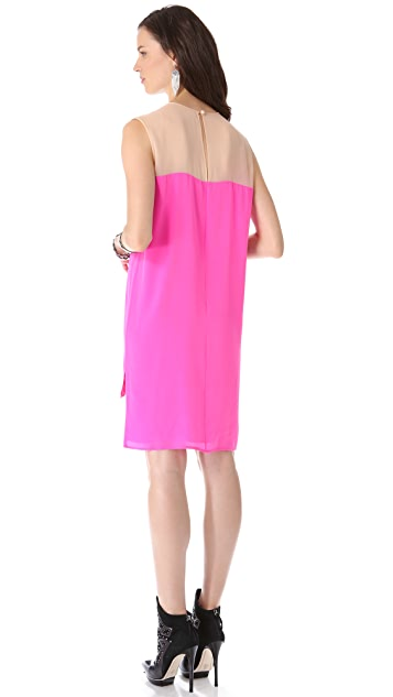 Michelle Mason Two Tone Shift Dress