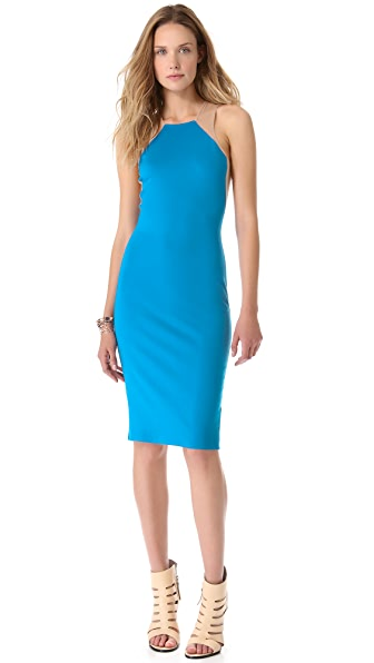 Mason by Michelle Mason Tank Dress with Mesh Insets