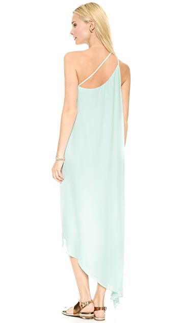 Michelle Mason Asymmetrical One Shoulder Maxi Dress