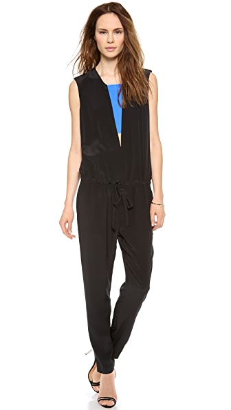 Michelle Mason Jumpsuit with Contrast