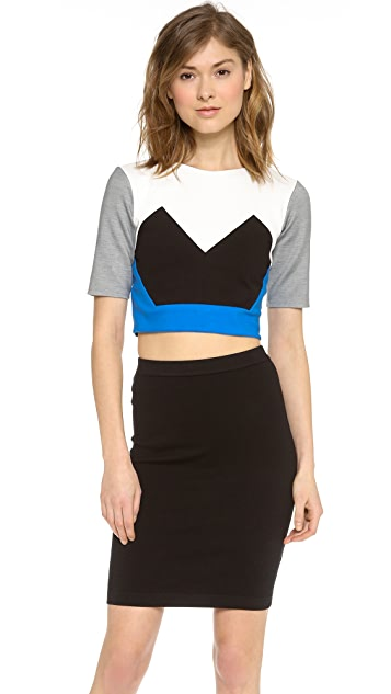 Michelle Mason Cropped Jersey Top