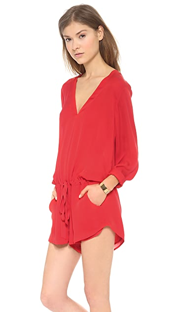 Michelle Mason Long Sleeve Romper