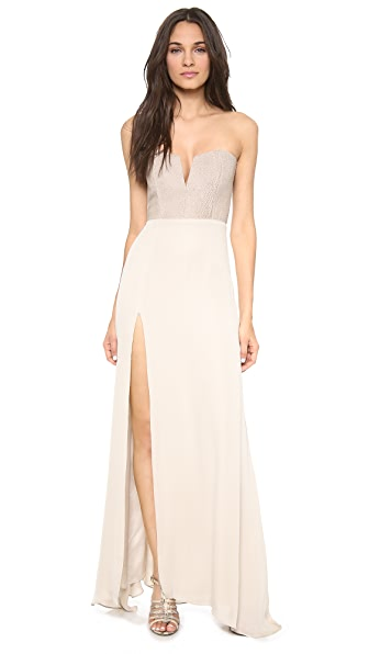 Mason by Michelle Mason Leather Corset Gown