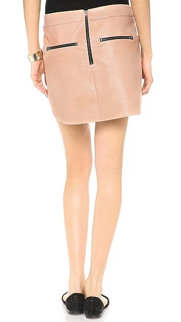 Michelle Mason Mini Leather Skirt