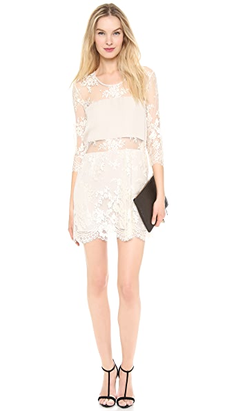 Michelle Mason Mini Lace Dress
