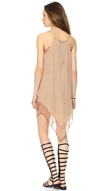 Michelle Mason Cami Dress with Chiffon Trim