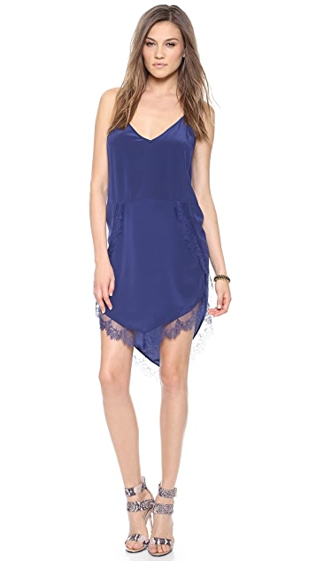 Michelle Mason Lace Trim Slip Dress