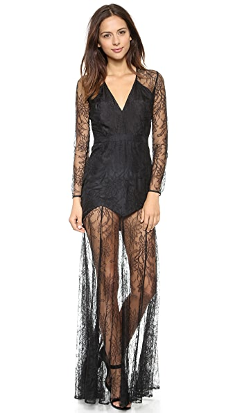 Mason by Michelle Mason Lace Gown